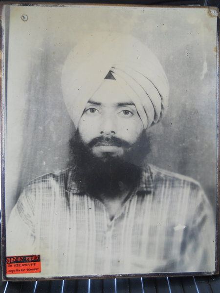 Photo of Chamkaur Singh, victim of extrajudicial execution on June 16, 1993, in Moga, by Punjab Police