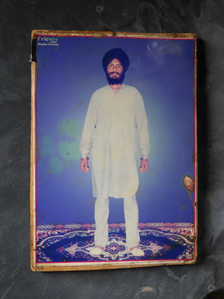 Photo of Malkeet Singh, victim of extrajudicial execution on May 30, 1988, in Faridkot, by Punjab Police