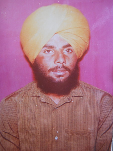 Photo of Ranjeet Singh, victim of extrajudicial execution on September 03, 1990, in Dharamkot, by Punjab Police
