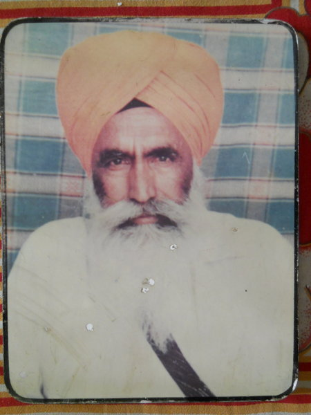 Photo of Jagjeet Singh, victim of extrajudicial execution on March 18, 1986Black cat