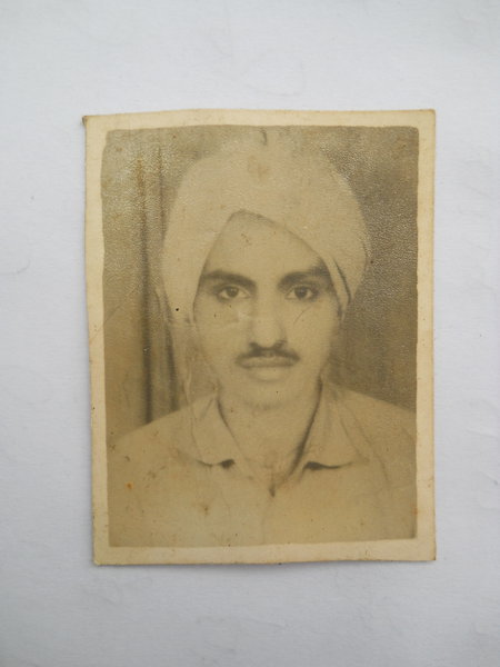 Photo of Parmjeet Singh, victim of extrajudicial execution between February 13, 1986 and March 13,  1986, in Badhni Kalan, by Punjab Police
