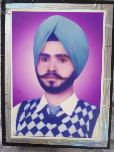 Photo of Santokh Singh, victim of extrajudicial execution between February 25, 1993 and March 5,  1993, in Faridkot, by Punjab Police