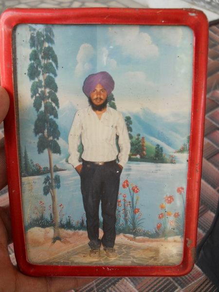 Photo of Amarjeet Singh, victim of extrajudicial execution on December 11, 1989Punjab Police