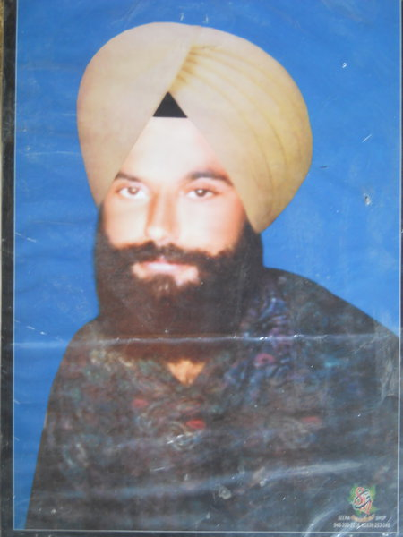Photo of Komaljeet Singh, victim of extrajudicial execution on July 27, 1992, in Jagraon, by Punjab Police