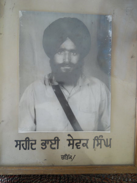 Photo of Gursewak Singh, victim of extrajudicial execution on July 18, 1988, in Bhagha Purana, Smalsar, by Punjab Police