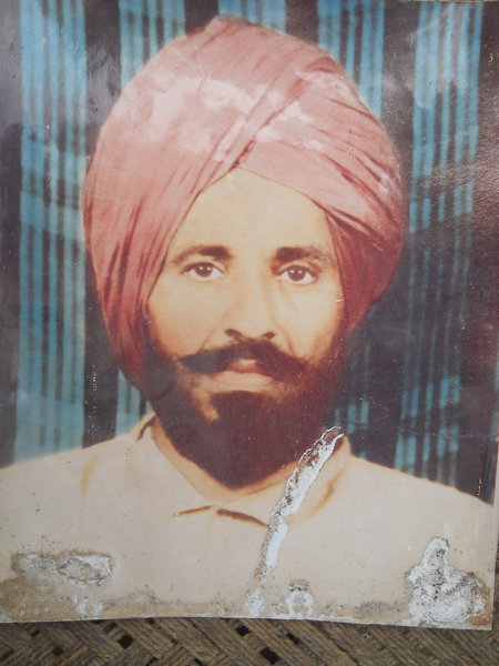 Photo of Ajit Singh, victim of extrajudicial execution on July 31, 1991, in Zira, by Punjab Police