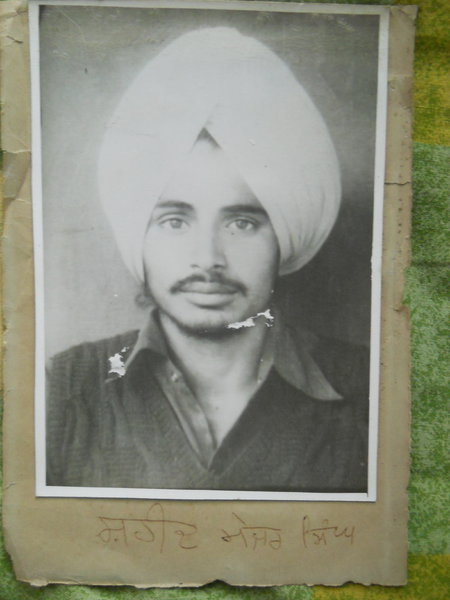 Photo of Mejor Singh, victim of extrajudicial execution between June 25, 1987 and June 29,  1987, in Faridkot,  by Punjab Police; Central Reserve Police Force, in Faridkot, by Punjab Police