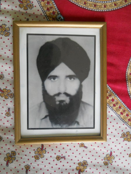 Photo of Ranjit Singh, victim of extrajudicial execution on August 24, 1987, in Mehna, Faridkot,  by Punjab Police; Central Reserve Police Force, in Mehna, Faridkot, by Punjab Police