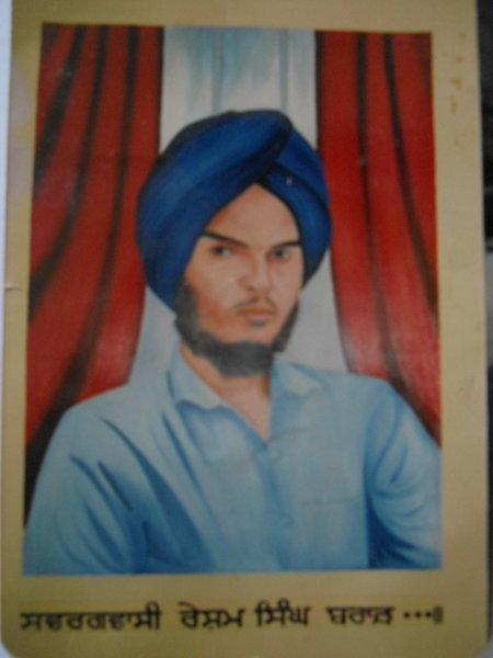 Photo of Resham Singh, victim of extrajudicial execution on July 10, 1987, in Mallanwala, by Punjab Police