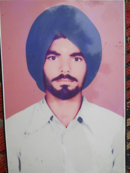 Photo of Chamkaur Singh, victim of extrajudicial execution between June 20, 1984 and June 25,  1984, in Raoke Kalan, by Black cat
