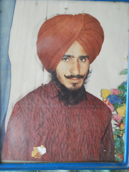 Photo of Gursewak Singh, victim of extrajudicial execution on July 04, 1990, in Jagraon, by Punjab Police