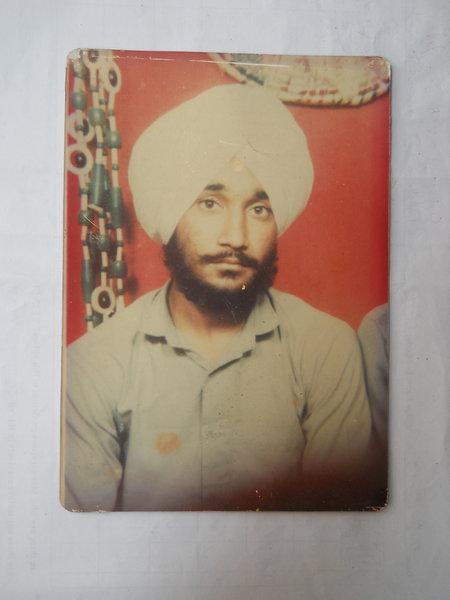 Photo of Gursewak Singh, victim of extrajudicial execution between July 29, 1991 and July 31,  1991Punjab Police