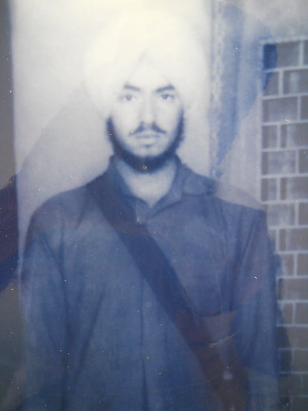 Photo of Harnek Singh, victim of extrajudicial execution on June 16, 1987, in Chirak,  by Punjab Police; Border Security Force, in Bhagha Purana, by Punjab Police