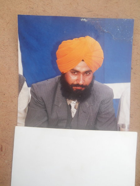 Photo of Chamkaur Singh, victim of extrajudicial execution between January 1, 1993 and January 7,  1993, in Dehlon, by Punjab Police