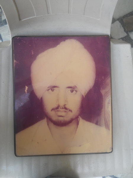 Photo of Jaswant Singh, victim of extrajudicial execution between May 20, 1987 and May 21,  1987, in Badhni Kalan, by Punjab Police