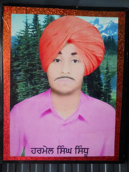 Photo of Harmel Singh, victim of extrajudicial execution on October 10, 1991, in Dyalpura Bhaika, by Punjab Police