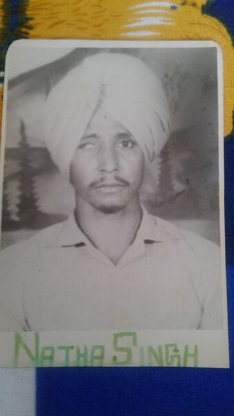 Photo of Natha Singh, victim of extrajudicial execution between August 15, 1990 and September 15,  1990, in Mehna, by Punjab Police