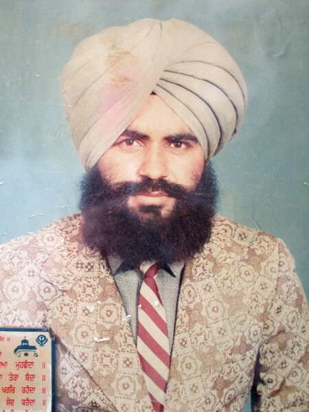 Photo of Darshan Singh, victim of extrajudicial execution on March 4, 1989, in Bhagha Purana, by Punjab Police