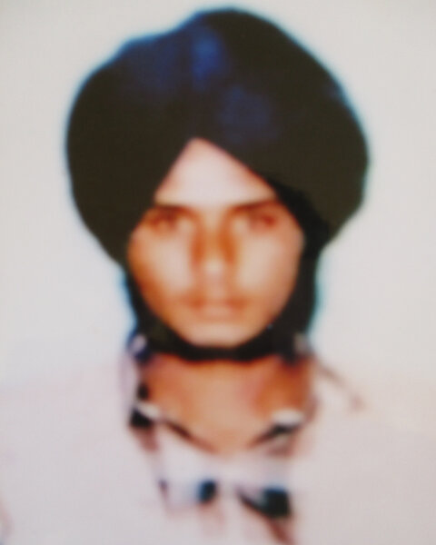 Photo of Lakhvir Singh, victim of extrajudicial execution between October 1, 1987 and November 31,  1987, in Bhagha Purana, by Punjab Police