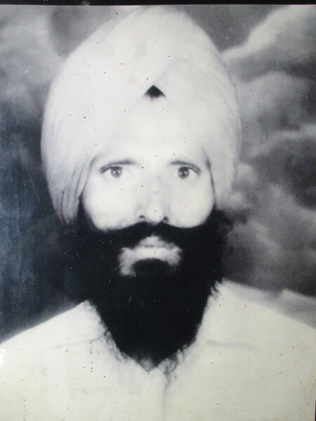 Photo of Gurmail Singh, victim of extrajudicial execution on June 13, 1987, in Moga, by Punjab Police