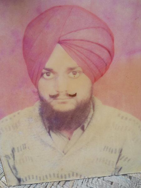 Photo of Karishan Singh, victim of extrajudicial execution between May 15, 1991 and June 15,  1991, in Badhni Kalan, by Punjab Police