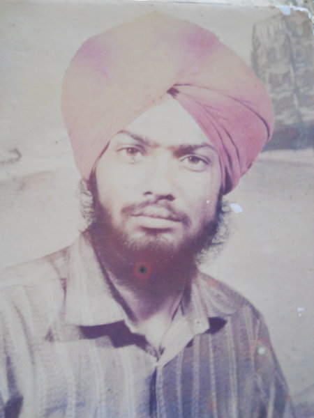 Photo of Resham Singh, victim of extrajudicial execution between August 1, 1990 and August 30,  1990, in Sadiq, by Punjab Police