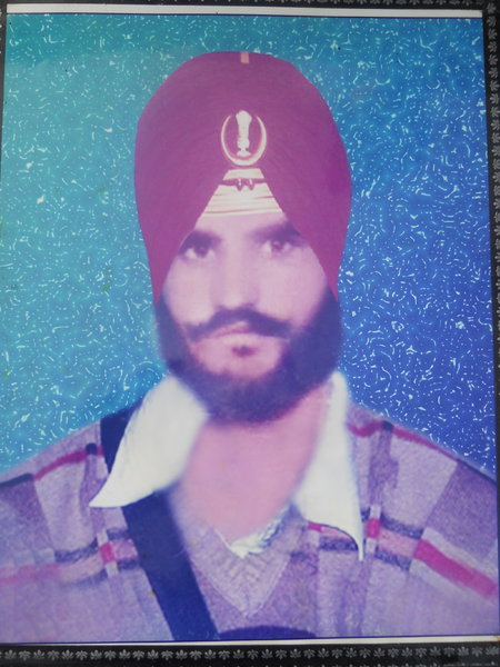 Photo of Desa Singh, victim of extrajudicial execution on August 05, 1990, in Muktsar, Lakhewali, by Punjab Police