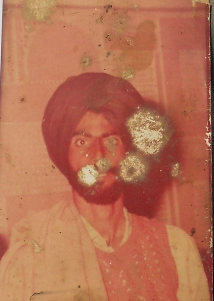 Photo of Nachattar Singh, victim of extrajudicial execution on September 02, 1989, in Firozpur, by Punjab Police; Border Security Force; Central Reserve Police Force