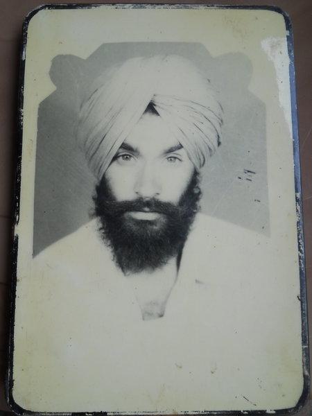 Photo of Gurjant Singh, victim of extrajudicial execution between June 18, 1993 and June 20,  1993, in Faridkot CIA Staff, by Punjab Police