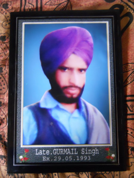 Photo of Gurmail Singh, victim of extrajudicial execution on May 29, 1993, in Muktsar, by Punjab Police