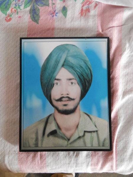 Photo of Karnail Singh, victim of extrajudicial execution between April 17, 1991 and May 17,  1991, in Kot Bhai, by Punjab Police