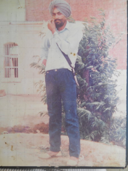 Photo of Darshan Singh, victim of extrajudicial execution on August 24, 1989, in Faridkot, by Punjab Police; Central Reserve Police Force