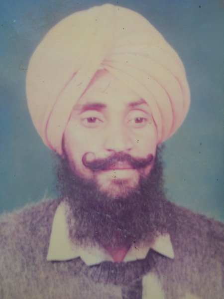 Photo of Harmandar Singh, victim of extrajudicial execution on June 15, 1993, in Bathinda, by Punjab Police; Central Reserve Police Force