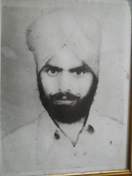 Photo of Pyara Singh, victim of extrajudicial execution on April 06, 1991, in Banga, by Punjab Police
