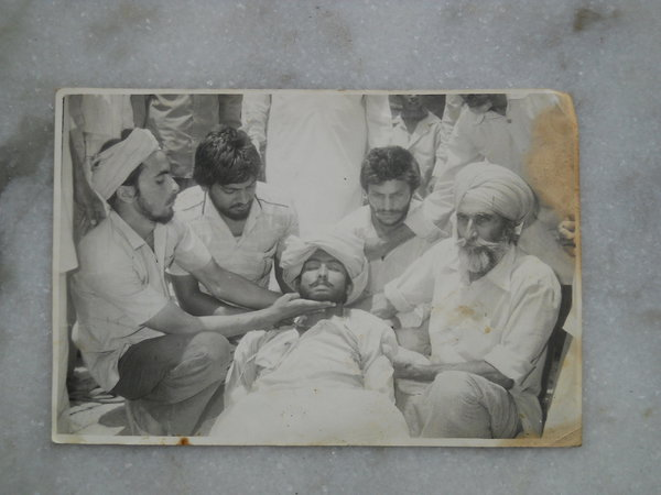 Photo of Chuhar Singh, victim of extrajudicial execution on May 11, 1985, in Jalandhar, by Punjab Police