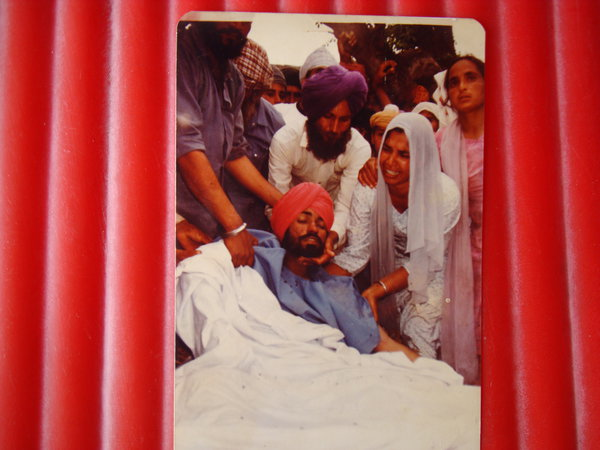 Photo of Manjit Singh, victim of extrajudicial execution on March 30, 1989Punjab Police
