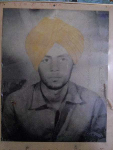 Photo of Major Singh, victim of extrajudicial execution on May 25, 1990, in Mullanpur Dakha, by Punjab Police