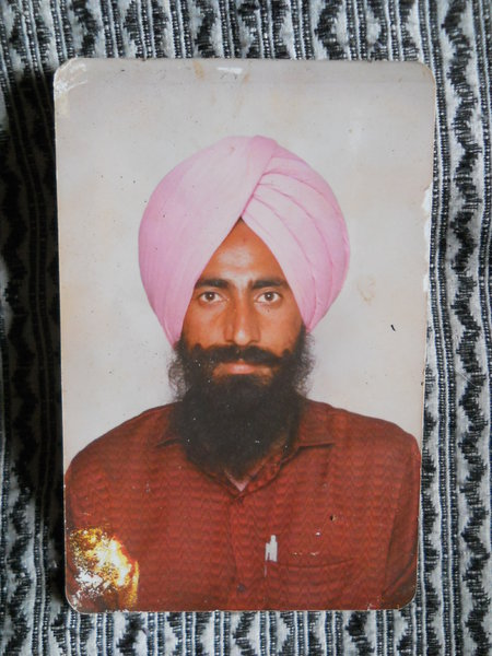 Photo of Harbhajan Singh, victim of extrajudicial execution on July 29, 1990 by Unknown type of security forces, in Samana, by Punjab Police