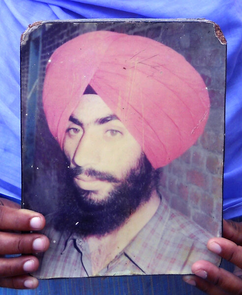 Photo of Nishan Singh, victim of extrajudicial execution on May 01, 1991, in Patiala, Sohana, by Punjab Police