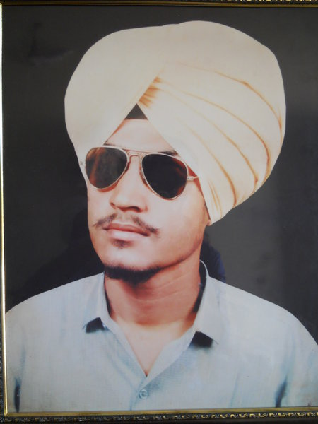 Photo of Jinderpal Singh, victim of extrajudicial execution between September 9, 1991 and September 15,  1991, in Moonak, by Punjab Police