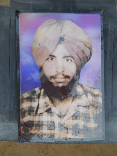 Photo of Balwinder Singh, victim of extrajudicial execution between August 15, 1993 and September 15,  1993, in Samana CIA Staff, by Criminal Investigation Agency