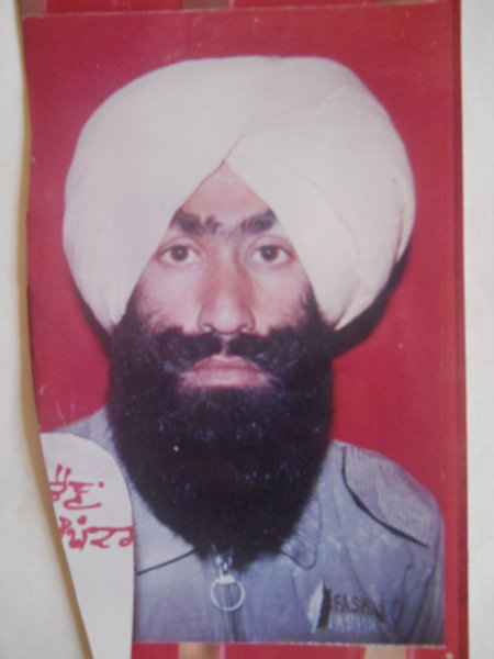 Photo of Harwinder Singh,  disappeared on March 29, 1993, in Patiala,  by Punjab Police