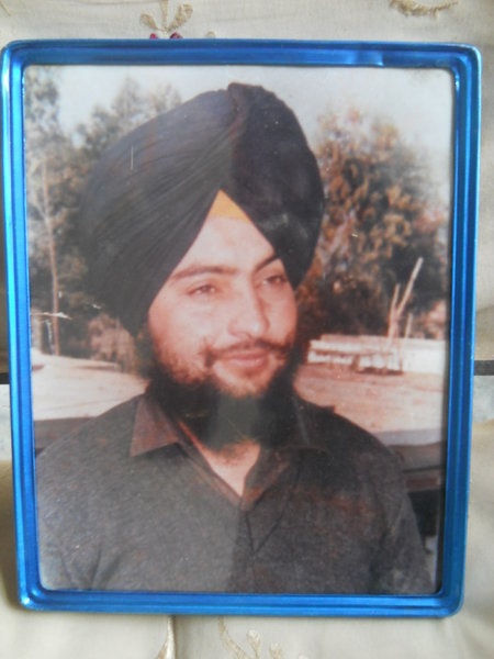 Photo of Dalbir Singh, victim of extrajudicial execution between October 13, 1992 and October 14,  1992, in Samana CIA Staff,  by Criminal Investigation Agency, in Samana CIA Staff, by Criminal Investigation Agency