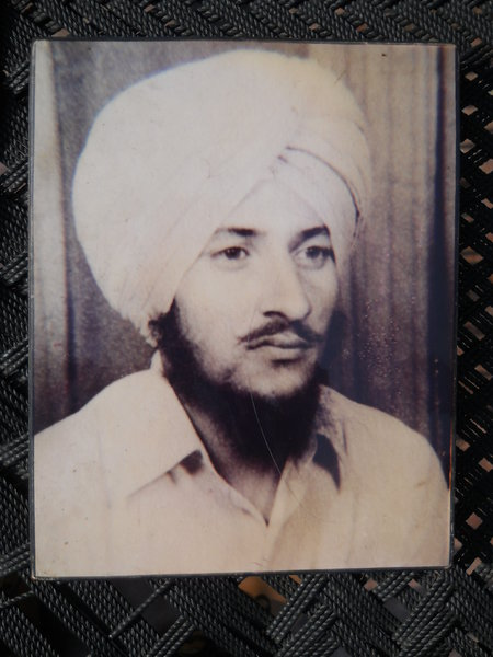 Photo of Kulwinder Singh, victim of extrajudicial execution on July 12, 1991, in Ludhiana, by Punjab Police
