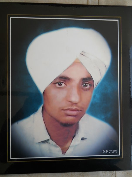 Photo of Mohinder Singh, victim of extrajudicial execution between February 12, 1993 and August 12,  1995, in Patiala CIA Staff,  by Criminal Investigation AgencyUnknown type of security forces