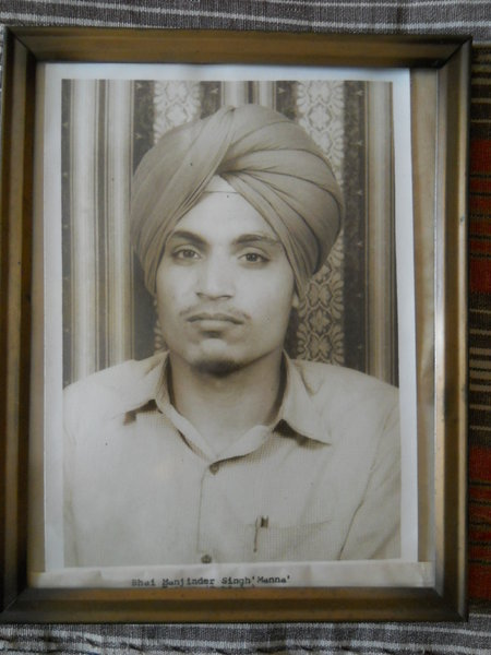 Photo of Manjinder Singh, victim of extrajudicial execution on June 02, 1990, in Patiala, by Punjab Police