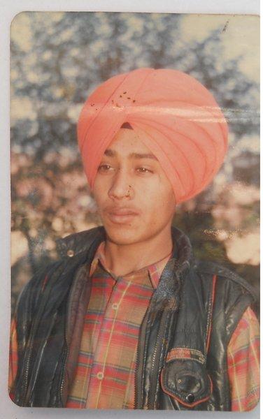 Photo of Harminder Singh, victim of extrajudicial execution between April 2, 1994 and May 7,  1994, in S.A.S. Nagar (Mohali) CIA Staff, Rupnagar, by Punjab Police