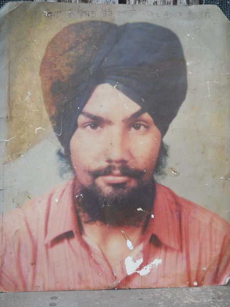 Photo of Harwinder Singh, victim of extrajudicial execution on October 27, 1993, in Kharar, by Punjab Police