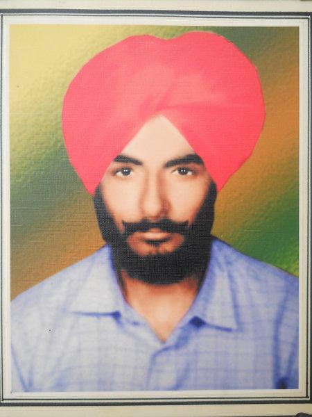 Photo of Devinder Singh, victim of extrajudicial execution on September 18, 1999, in Rupnagar CIA Staff, Rupnagar, Anandpur Sahib,  by Punjab Police; Criminal Investigation Agency, in Rupnagar CIA Staff, Rupnagar, Anandpur Sahib, by Punjab Police; Criminal Investigation Agency