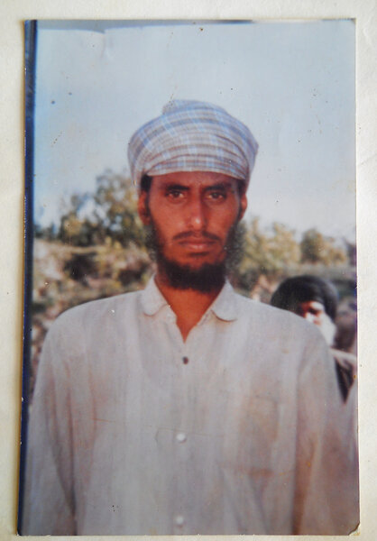 Photo of Lakhwinder Singh, victim of extrajudicial execution between July 20, 1991 and July 21,  1991, in Khanna, Chandigarh, by Punjab Police